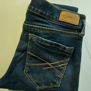 Aeropostale skinny distressed jeans in size 00